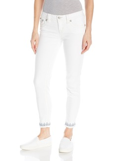 Miss Me Women's Embroidered Denim Ankle Skinny Jean