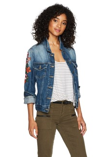 Miss Me Women's Embroidered Denim Jacket  S