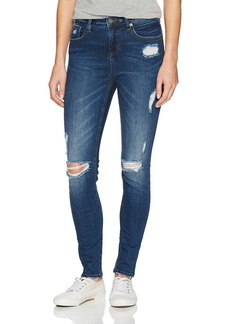 Miss Me Women's High Rise Basic Skinny Denim Jean With Distressing