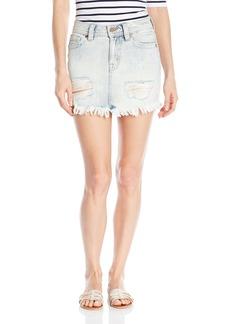 Miss Me Women's High Rise Distressed Denim Skirt  26