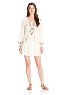 Miss Me Women's Long Sleeve Embroidered Dress