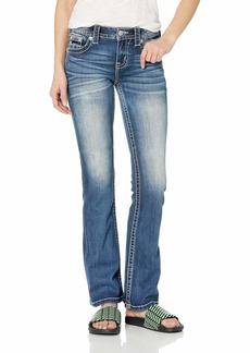 Miss Me Women's Mid Rise Chloe Boot Cut Jeans