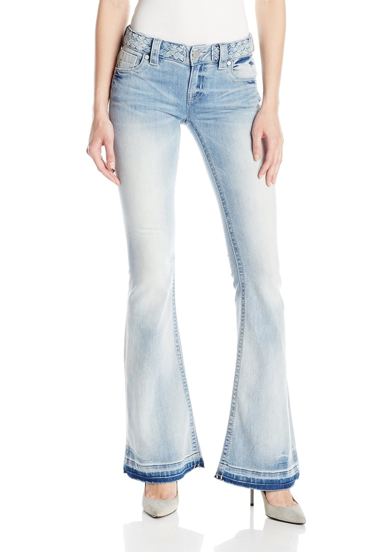 Miss Me Women's Mid Rise Light Wash Flare Leg Denim Jean