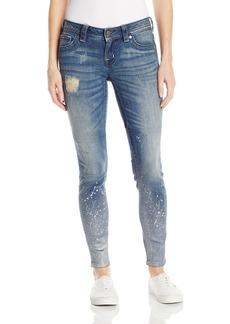 Miss Me Women's Mid Rise Skinny Denim Jean With Paint Splatter MK