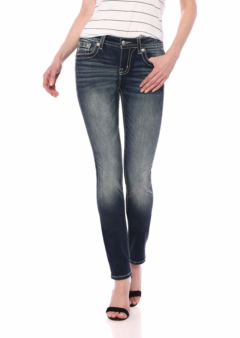Miss Me Women's Mid-Rise Straight Leg Jeans