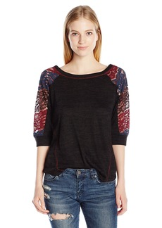 Miss Me Women's Mix Match Quartersleeve Top  L