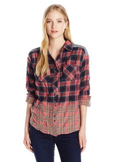 Miss Me Women's Ombre Plaid Shirt  L