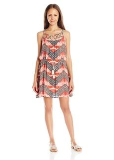 Miss Me Women's Spaghetti Strap Printed Dress