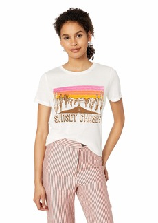 Miss Me Women's Sunset Graphic Tee Shirt  M