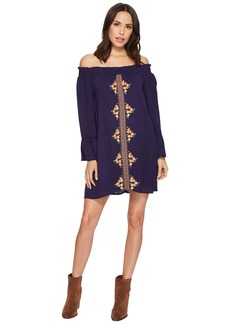 Miss Me Off the Shoulder Bell Sleeve Dress