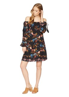 Miss Me Off the Shoulder Printed Dress