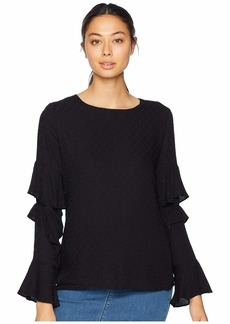 Miss Me Ruffle Sleeve Long Sleeve Blouse
