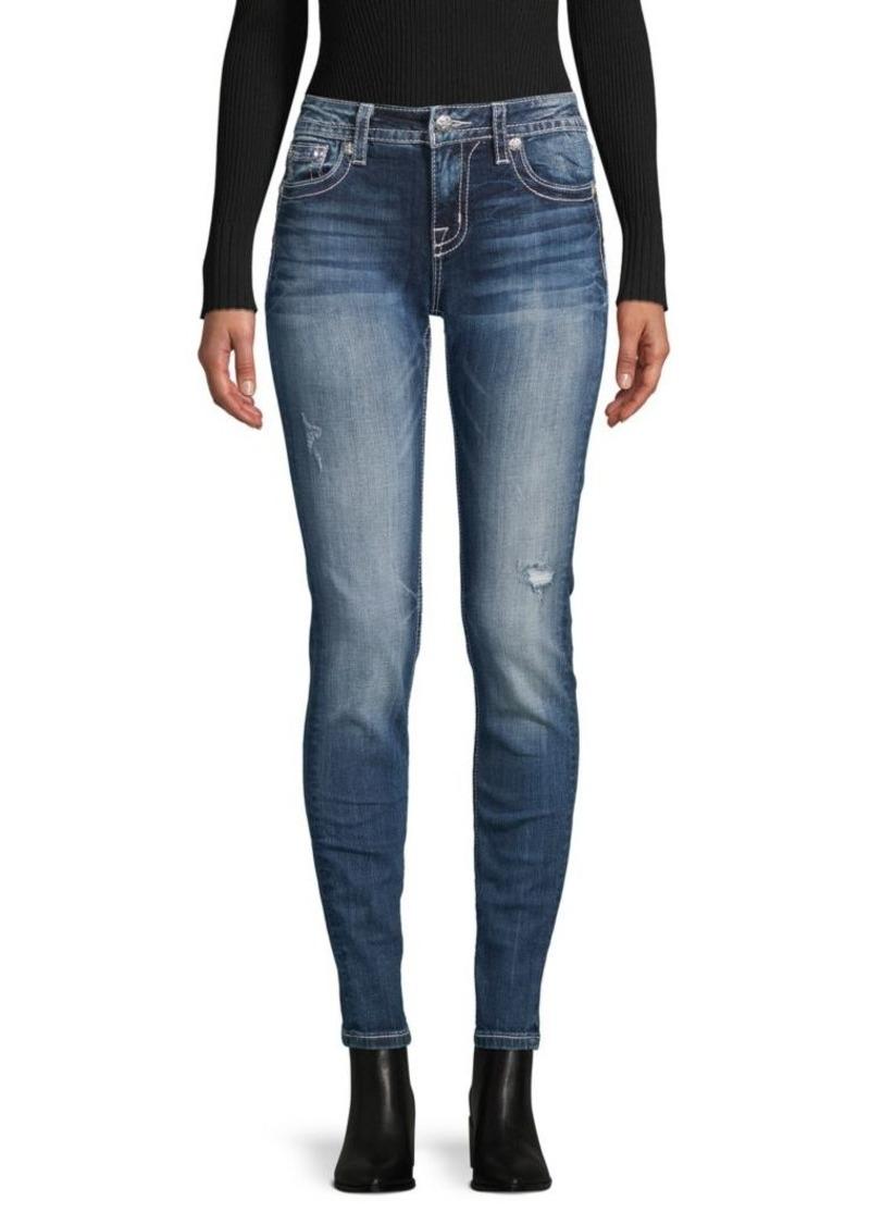 Miss Me Skinny-Fit Distressed Jeans
