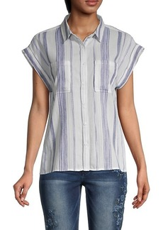 Miss Me Striped Cotton Shirt