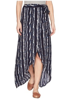 Miss Me Surplice Acid Wash Skirt