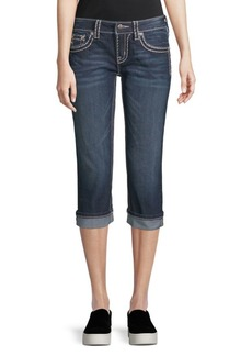 Miss Me Thick Stitched Capri Jeans
