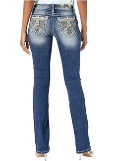 Miss Me Thunderbird Bootcut Jeans in Dark Blue