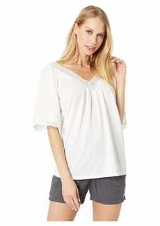 Miss Me V-Neck Blouse with Lace Detail