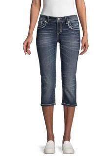 Miss Me Whiskered Capri Jeans