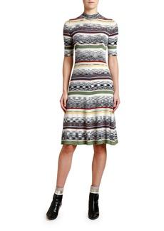 Missoni 1/2-Sleeve Mock-Neck Knit Dress