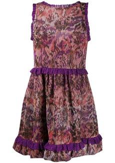 Missoni abstract flared midi dress