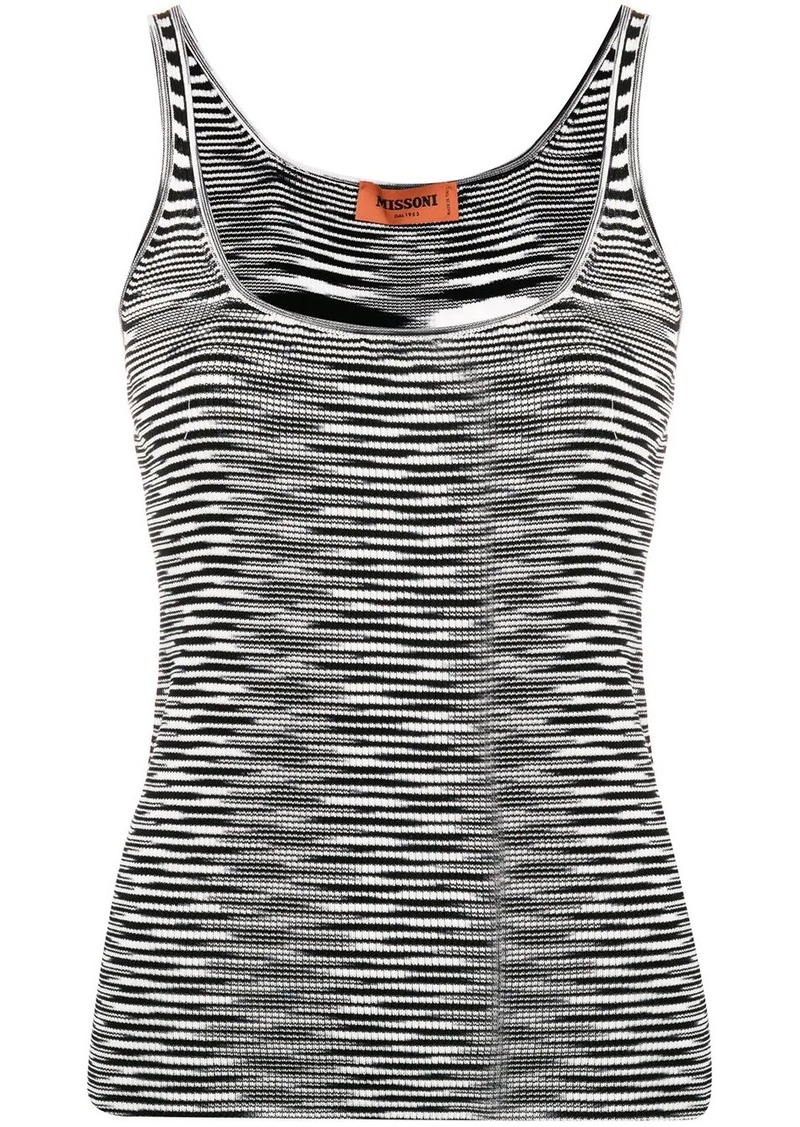 Missoni abstract knit vest top