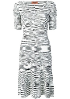 Missoni abstract pattern knitted dress