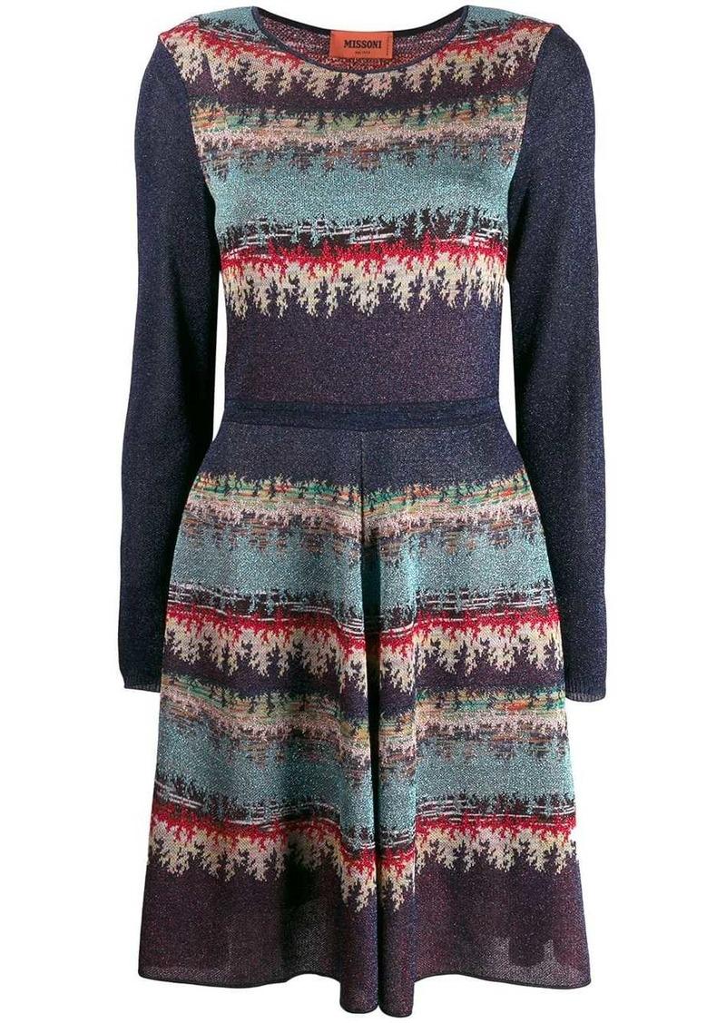 Missoni abstract pattern midi dress
