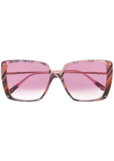 Missoni abstract print oversized sunglasses