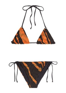 Missoni Animal Print Knit Triangle Bikini