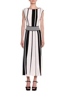 Missoni Bateau-Neck Sleeveless Striped A-Line Dress