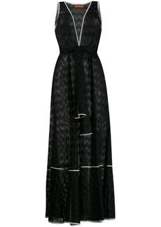 Missoni belted V-neck long dress