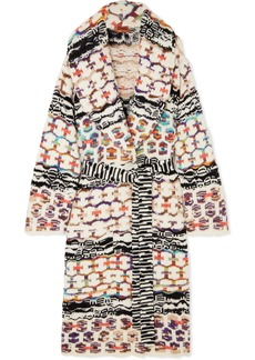 Missoni Belted Wool-blend Coat