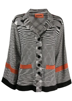 Missoni button down intarsia knit cardi-coat