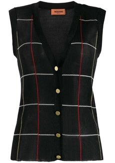 Missoni buttoned knit vest