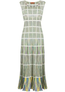 Missoni check knit maxi dress