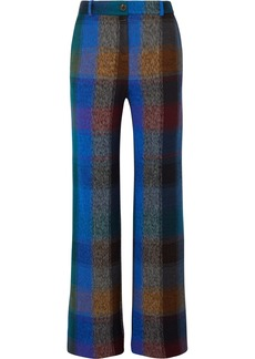 Missoni Checked Wool-blend Wide-leg Pants