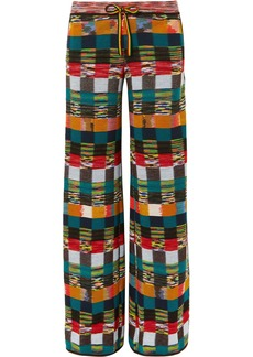 Missoni Checked Wool Wide-leg Pants