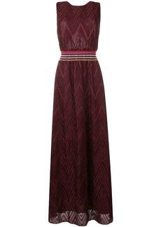 Missoni chevron knit maxi dress