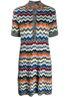 Missoni chevron pattern knitted dress