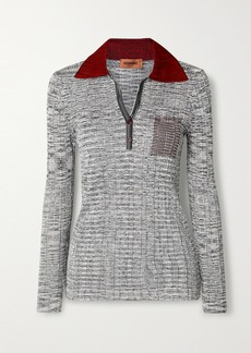 Missoni Color-block Ribbed Crochet-knit Sweater
