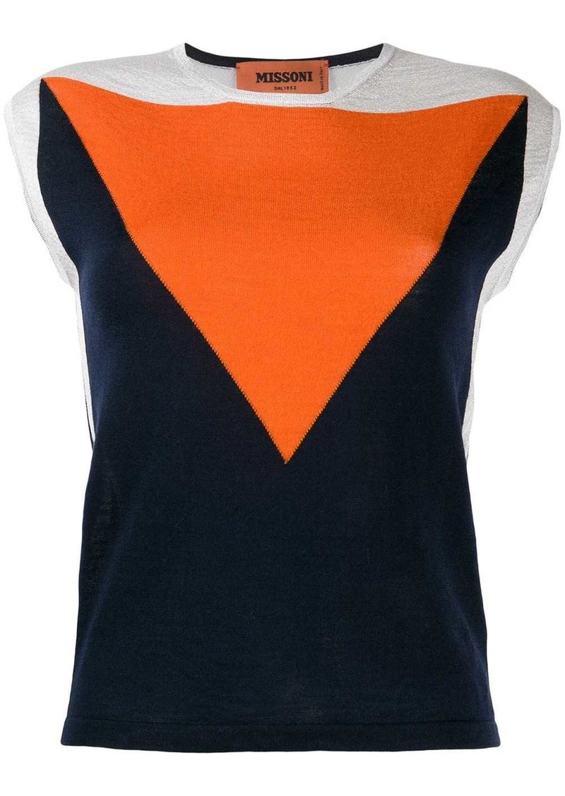 Missoni colour block knitted top