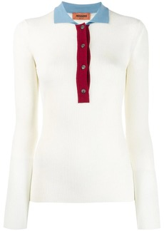 Missoni contrast collar polo shirt