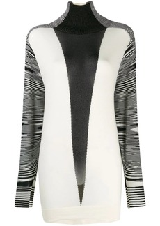 Missoni contrast sweater dress