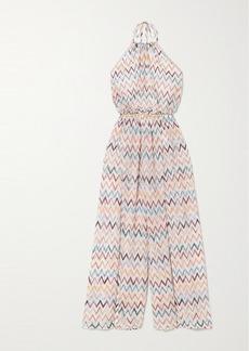 Missoni Crochet-knit Halterneck Jumpsuit
