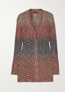 Missoni Degrade Metallic Crochet-knit Cardigan