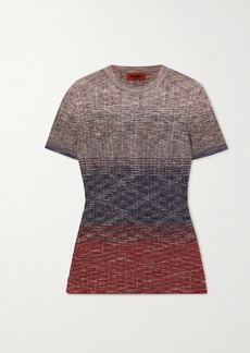 Missoni Dégradé Crochet-knit Top