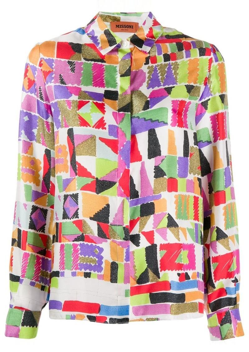 Missoni digital print blouse