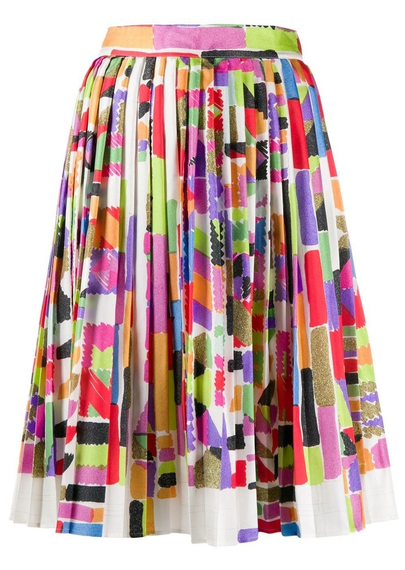 Missoni digital print pleated skirt