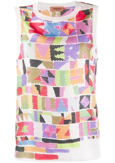 Missoni digital print vest top